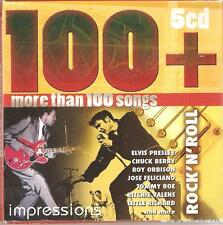 ROCK 'N' ROLL 100+ IMPRESSIONS - 5 CD BOX SET - MORE THAN 100 SONGS