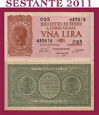 ITALIA ITALY 1 LIRA 1944 Sign. Ventura,  P 29a,  UNC, FREE SHIPPING FOR 100.00 $