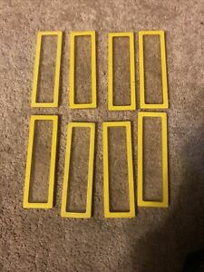 VTG 1978 YELLOW BARBIE A-FRAME DREAM HOUSE BACK CLEAR WINDOWS Repl Pieces