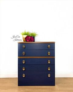 Vintage Retro Mid Century Modern Stag Cantata Chest Of Drawers