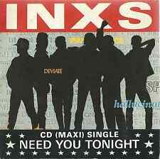 INXS - NEED YOU TONIGHT / MEDIATE 1987 GERMAN CARD SLEEVE CD SINGLE INXCD 8