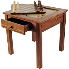 Chess Backgammon Table Chess Checkers Backgammon Table Wood Drawer Reverse Top