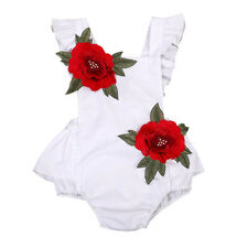 12-18M USA Newborn Baby Girl Clothes Flower Romper Jumpsuit Bodysuit Sunsuit YC4