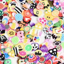 1000pcs Nail Art 3D Fruit Animals Fimo Slice Clay DIY Tips Sticker Decoration