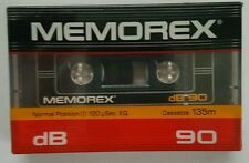 Memorex dB 90 High Output 90 Minute Blank Audio Cassette Tape NEW SEALED