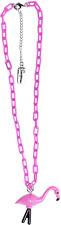 60150 Chunky Pink Flamingo Necklace Bird Island Rockabilly Pinup Retro Sourpuss