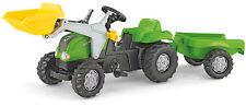 Rolly Toys RollyKid X Traktor mit Lader und Anhänger (Grün)