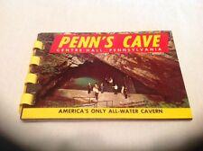 Vtg. Penn's Cave Centre Hall PA Souvenir Color Mini Picture Album 10 Photos
