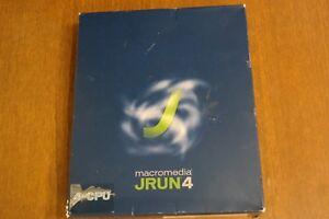 Macromedia Jrun4 Servers 4 Alp Ret Eng CD 4 CPU -  New open box never used  W18)