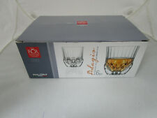 Adagio Crystal Short Whisky Glasses, 350 ml, Set of 6,Crystal Clear .RCR