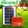 Emergency Solar Generator Lighting System Kit with Solar Panel 2X USB Bulb Lamp