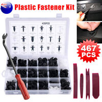 467PCS Car Body Clips Trim Kit Rivet Door Retainer Panel Plastic Bumper Fastener