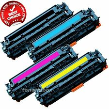Set of 4 PK CE320A 128A Laser Toner For Color HP LaserJet Pro CM1415FNW CP1525NW