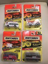 Matchbox Lot 1993-1997 Emergency Vehicles Lot New MOC On Card