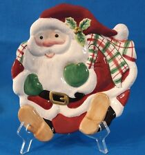 Fitz & Floyd Christmas Santa Clause Hand Crafted Canape/Cookie Plate