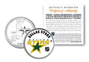 DALLAS STARS NHL Hockey Texas Statehood Quarter US Colorized Coin LICENSED