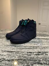 "NIKE AIR JORDAN 1 HIGH  ""Hornets"" Leather Zip up Women's 7.5 Sneakers AQ3742-403"