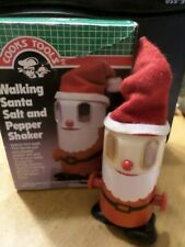 Cooks Tools Walking Santa Salt and Pepper Shaker - 1986 new in box