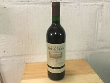 1 bouteille Château Troupian Haut Médoc Millésime 1989