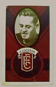 .1933 ALLENS ALLEN'S FOOTBALLERS TRADING CARD. FITZROY , N COCKRAM CARD NO 127