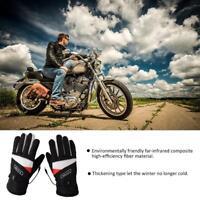 Motorcycle Waterproof Heated Gloves Battery Powered Motorcycle  Winter Warmer
