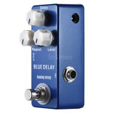 New BLUE DELAY Mini Analog Delay Guitar Effect Pedal True Bypass Z0D5