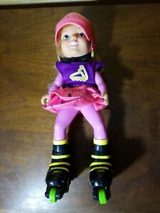 """Tyco 12"""" California Roller Baby Rollerblade Skate Doll Vintage 1990's Toy"""