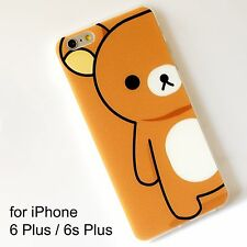 Rilakkuma Brown Transparent Soft Silicone Back Cover Case iPhone 6 Plus 6s Plus