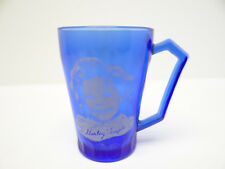 Vintage Used Cobalt Blue Shirley Temple Depression Glass Drinking Cup Kitchen