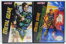 Metal Gear and Metal Gear 2 Snake's Revenge NES Custom Game Cases - NO GAMES