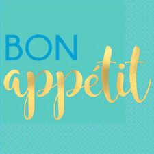 ADULT BIRTHDAY Bon Appetit SMALL NAPKINS (16) ~ Birthday Party Supplies Beverage