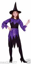 new Forum Novelties Spider Witch Halloween Costume Child Medium girl size 8 - 10