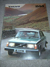 ORIGINAL VOLVO 244 RANGE SALES BROCHURE 1980