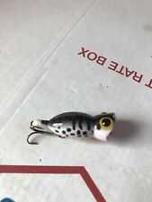 Vintage Fred Arbogast Fly Rod Size Hula Popper Fishing Lure White Coachdog USED