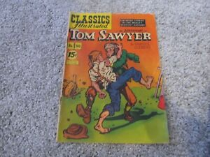 Classics Illustrated #50 ORIGINAL 1948  - Tom Sawyer GD+ 2.5