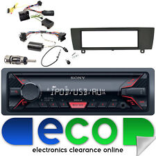 BMW X1 2009-2015 SONY MP3 USB Aux Ipod Car Radio Steering Interface Kit