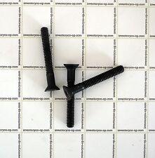 American Socket Screw, 1/4-20 X 2 Flat Head Cap Screw, Blk 12 Pcs