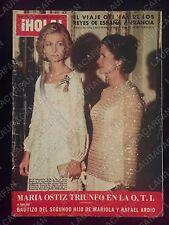 REVISTA HOLA 1681 - NADIA COMANECI - REYES DE ESPAÑA - MARIA OSTIZ - AÑO 1976