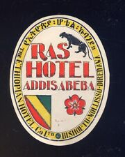 alter Kofferaufkleber Ras Hotel Addisabeba 9