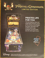 PIRATES OF THE CARIBBEAN LE by Jersey Jack Pinball flyer