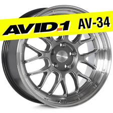 AVID.1 AV-34 18x8.5 Hyper Black 5x114.3 +35 Wheel Deep Lip AV3418855H35HB