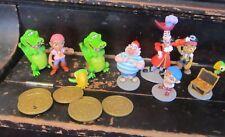 Disney 3 inch PVC Peter Pan lot of 9 figures Captain Hook Smee more