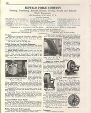 1926 Buffalo Forge Co Heating Ventilating Exhaust Systm Asbestos History Catalog