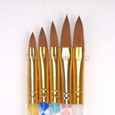 Acrylic Nail Art UV Gel Carving Pen Brush Set Liquid Powder DIY Pack of 5