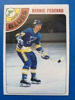 Bernie Federko Rookie O-Pee-Chee NHL Hockey Card #143 1978-79