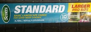 Scotts Standard Landscape Fabric 4x100 Weed Control Mat Barrier Covers 400sf