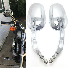 Chrome Motorcycle Side Mirrors Billet Stem For Harley Davidson FLHX Street Glide