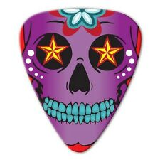 5 x Sugar Skull Purple Guitar Picks *NEW* Grover Allman Bag of 5, 0.8mm gauge