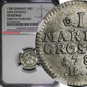 Germany  LIPPE-DETMOLD 1789 1 Mariengroschen NGC XF DETAILS 1 YEAR KM# 211 (103)