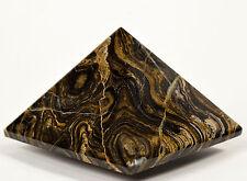 5.8cm 135g Stromatolite Pyramid Intagliato Alghe Fossile Cristallo Minerale Perù